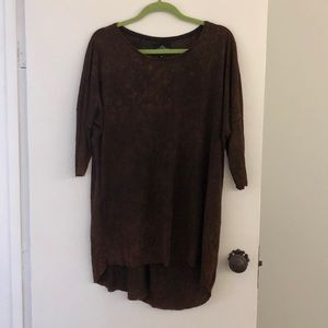 Distressed tunic shirt